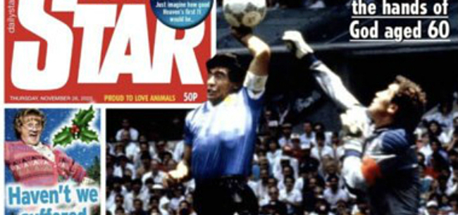 Foto: Engelse kranten over de schreef met cover Maradona