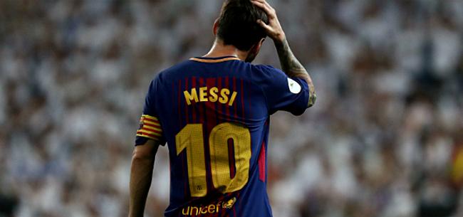 Foto: Messi diep door het stof in kleedkamer Barcelona