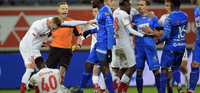 Foto: Commotie in AA Gent-Standard: