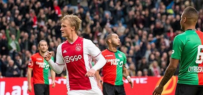 Foto: Uitblinkende Dolberg stuurt Ajax naar ruime zege op NEC