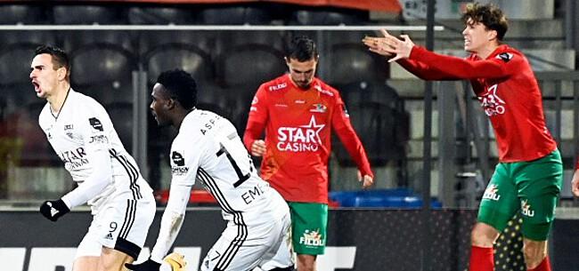 Foto: KVO raakt met een man meer niet verder dan een punt tegen Eupen