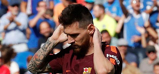 Foto: 'Messi klopt op tafel: maatje moet spelen'