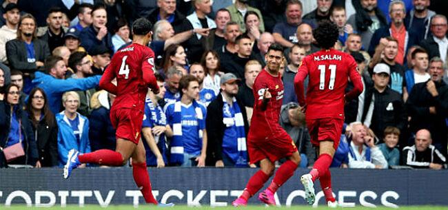Foto: Liverpool wint topper bij Chelsea, Arsenal pakt met tien spelers ook drie punten