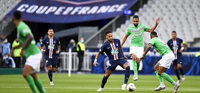 Foto: PSG wint Franse bekerfinale, Mbappe valt uit