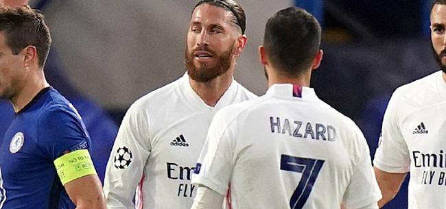 Foto: 'Ramos pakt Hazard aan voor volle kleedkamer'
